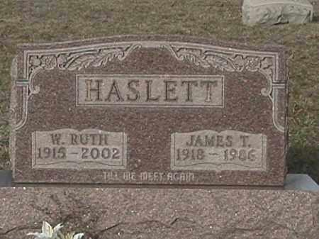 HASLETT, W. RUTH - Champaign County, Ohio | W. RUTH HASLETT - Ohio Gravestone Photos