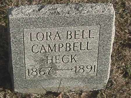 HECK, LORA BELL - Champaign County, Ohio   LORA BELL HECK - Ohio Gravestone Photos
