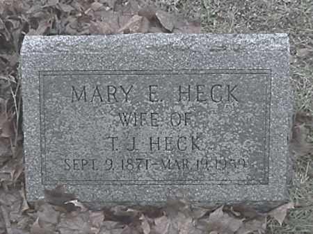 HECK, MARY E. - Champaign County, Ohio   MARY E. HECK - Ohio Gravestone Photos