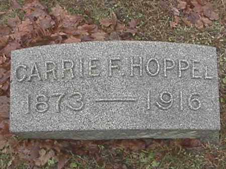 HOPPEL, CARRIE F. - Champaign County, Ohio | CARRIE F. HOPPEL - Ohio Gravestone Photos