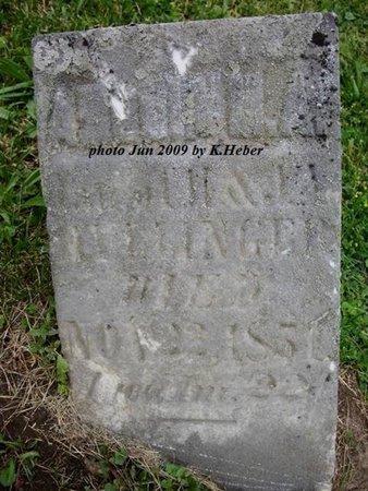 HULLINGER, AMELIA M.A. - Champaign County, Ohio   AMELIA M.A. HULLINGER - Ohio Gravestone Photos