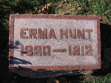 HUNT, ERMA - Champaign County, Ohio | ERMA HUNT - Ohio Gravestone Photos