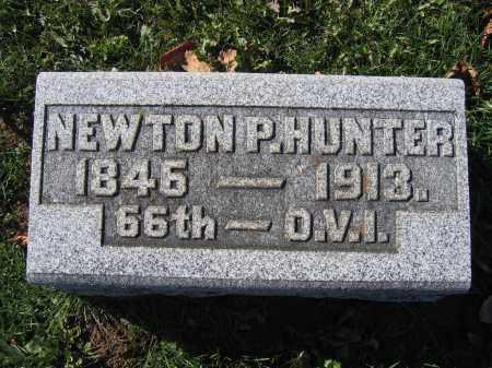 HUNTER, NEWTON P. - Champaign County, Ohio   NEWTON P. HUNTER - Ohio Gravestone Photos
