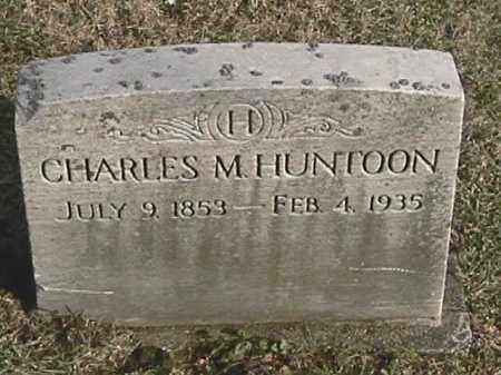 HUNTOON, CHARLES M. - Champaign County, Ohio | CHARLES M. HUNTOON - Ohio Gravestone Photos