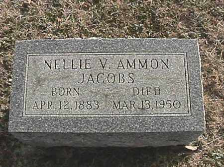 AMMON JACOBS, NELLIE V. - Champaign County, Ohio | NELLIE V. AMMON JACOBS - Ohio Gravestone Photos