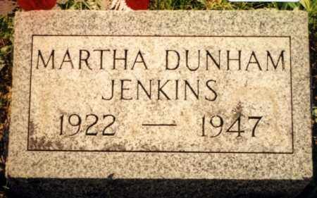 DUNHAM JENKINS, MARTHA - Champaign County, Ohio   MARTHA DUNHAM JENKINS - Ohio Gravestone Photos
