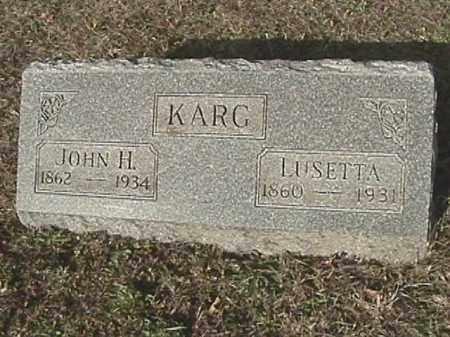 KARG, LUSETTA - Champaign County, Ohio | LUSETTA KARG - Ohio Gravestone Photos