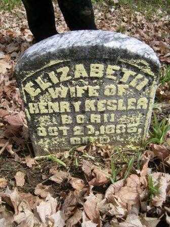 KESLER, ELIZABETH - Champaign County, Ohio   ELIZABETH KESLER - Ohio Gravestone Photos