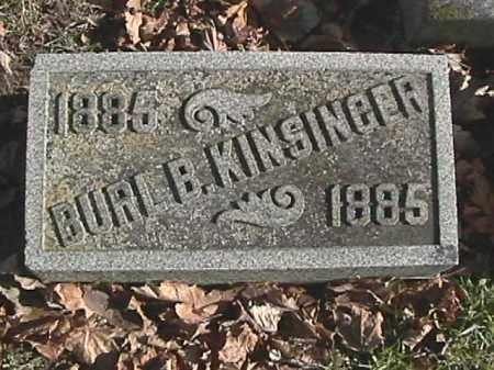 KINSINGER, BURL B. - Champaign County, Ohio | BURL B. KINSINGER - Ohio Gravestone Photos
