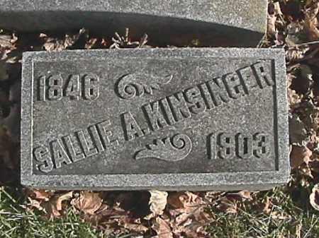 KINSINGER, SARAH A. - Champaign County, Ohio | SARAH A. KINSINGER - Ohio Gravestone Photos