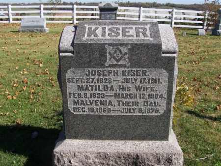 KISER, JOSEPH - Champaign County, Ohio | JOSEPH KISER - Ohio Gravestone Photos