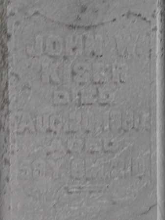 KISER, JOHN W. - Champaign County, Ohio | JOHN W. KISER - Ohio Gravestone Photos
