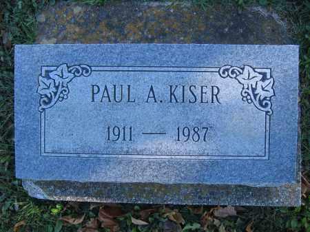 KISER, PAUL A. - Champaign County, Ohio | PAUL A. KISER - Ohio Gravestone Photos