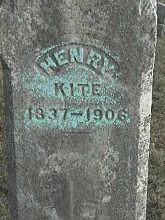 KITE, HENRY - Champaign County, Ohio   HENRY KITE - Ohio Gravestone Photos