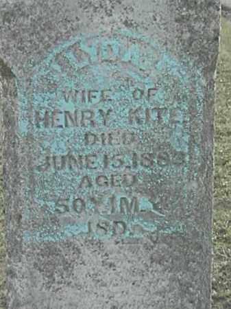 KITE, LYDIA - Champaign County, Ohio   LYDIA KITE - Ohio Gravestone Photos