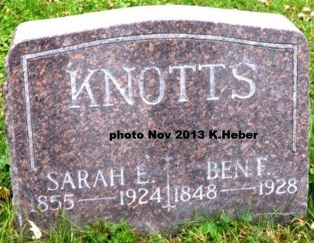 ASHMORE KNOTTS, SARAH ELIZABETH - Champaign County, Ohio | SARAH ELIZABETH ASHMORE KNOTTS - Ohio Gravestone Photos