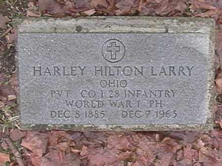 LARRY, HARLEY HILTON - Champaign County, Ohio   HARLEY HILTON LARRY - Ohio Gravestone Photos
