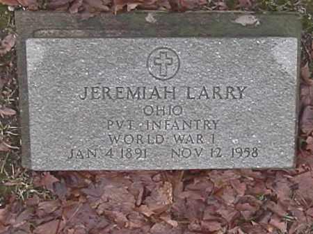 LARRY, JEREMIAH - Champaign County, Ohio | JEREMIAH LARRY - Ohio Gravestone Photos