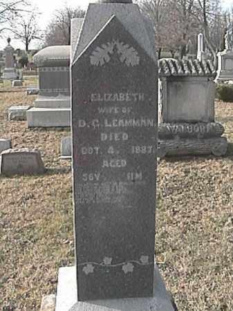 LEAMMAN, ELIZABETH - Champaign County, Ohio   ELIZABETH LEAMMAN - Ohio Gravestone Photos