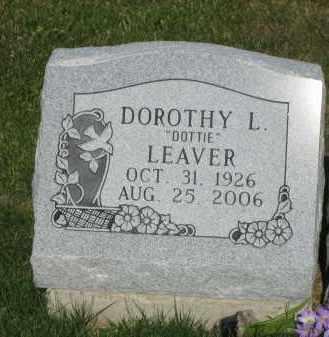 LEAVER, DOROTHY L DOTTIE DUNHAM - Champaign County, Ohio | DOROTHY L DOTTIE DUNHAM LEAVER - Ohio Gravestone Photos