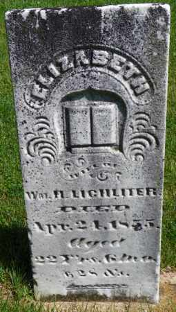 LICHLITER, ELIZABETH - Champaign County, Ohio | ELIZABETH LICHLITER - Ohio Gravestone Photos