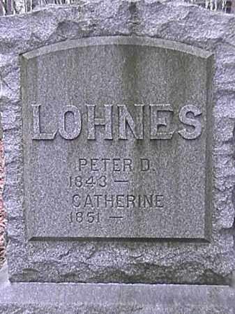 LOHNES, PETER D. - Champaign County, Ohio | PETER D. LOHNES - Ohio Gravestone Photos