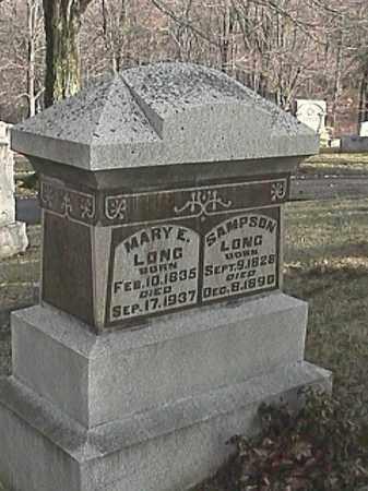 HECK LONG, MARY E. - Champaign County, Ohio   MARY E. HECK LONG - Ohio Gravestone Photos