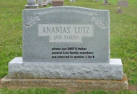 BAKER LUTZ, ELIZA ANN - Champaign County, Ohio   ELIZA ANN BAKER LUTZ - Ohio Gravestone Photos