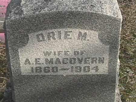 RIKER MACOVERN, ORIE M. - Champaign County, Ohio | ORIE M. RIKER MACOVERN - Ohio Gravestone Photos