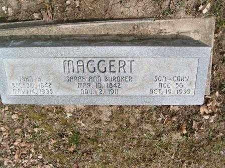BUROKER MAGGERT, SARAH ANN - Champaign County, Ohio | SARAH ANN BUROKER MAGGERT - Ohio Gravestone Photos