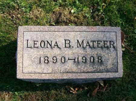MATEER, LEONA B. - Champaign County, Ohio   LEONA B. MATEER - Ohio Gravestone Photos