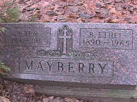 MAYBERRY, BERTHA ETHEL - Champaign County, Ohio | BERTHA ETHEL MAYBERRY - Ohio Gravestone Photos