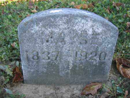 MAYSE, MALINDA - Champaign County, Ohio   MALINDA MAYSE - Ohio Gravestone Photos