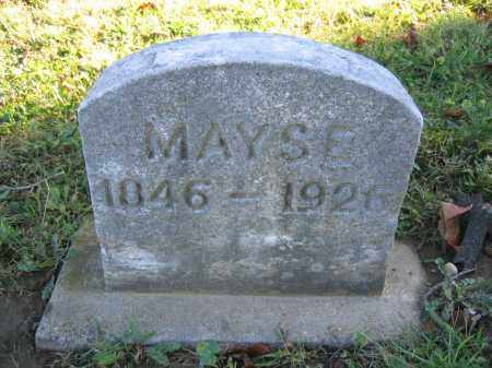 MAYSE, NANCY - Champaign County, Ohio | NANCY MAYSE - Ohio Gravestone Photos