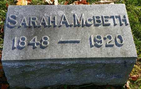 MCBETH, SARAH A. - Champaign County, Ohio | SARAH A. MCBETH - Ohio Gravestone Photos