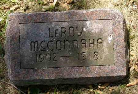 MCCONNAHA, LEROY - Champaign County, Ohio   LEROY MCCONNAHA - Ohio Gravestone Photos