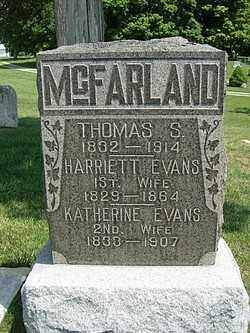 EVANS MCFARLAND, KATHERINE - Champaign County, Ohio | KATHERINE EVANS MCFARLAND - Ohio Gravestone Photos
