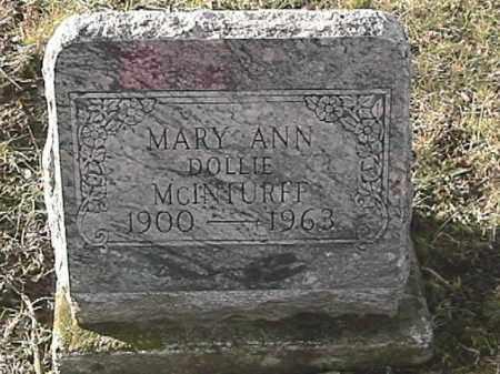 MCINTURFF, MARY ANN - Champaign County, Ohio   MARY ANN MCINTURFF - Ohio Gravestone Photos