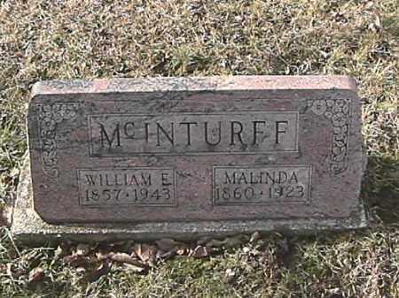 HOUSER MCINTURFF, MALINDA - Champaign County, Ohio   MALINDA HOUSER MCINTURFF - Ohio Gravestone Photos