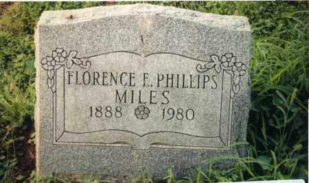 MILES, FLORENCE F. - Champaign County, Ohio | FLORENCE F. MILES - Ohio Gravestone Photos