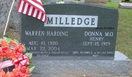 MILLEDGE, WARREN HARDING - Champaign County, Ohio | WARREN HARDING MILLEDGE - Ohio Gravestone Photos