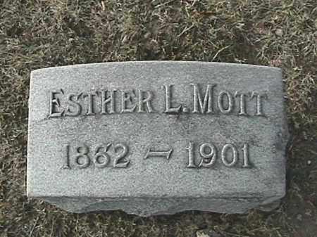 WALBORN MOTT, ESTHER L. - Champaign County, Ohio | ESTHER L. WALBORN MOTT - Ohio Gravestone Photos