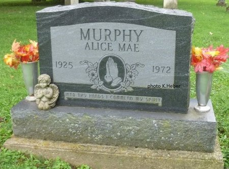 EVILSIZOR MURPHY, ALICE MAE - Champaign County, Ohio   ALICE MAE EVILSIZOR MURPHY - Ohio Gravestone Photos