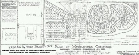 MYRTLE TREE, CEMETERY PLAT MAP - Champaign County, Ohio | CEMETERY on