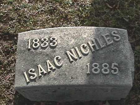 NICHLES, ISAAC - Champaign County, Ohio   ISAAC NICHLES - Ohio Gravestone Photos