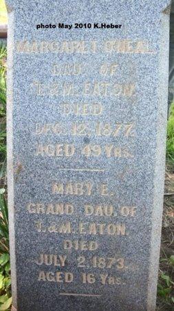 EATON O'NEAL, MARGARET - Champaign County, Ohio | MARGARET EATON O'NEAL - Ohio Gravestone Photos