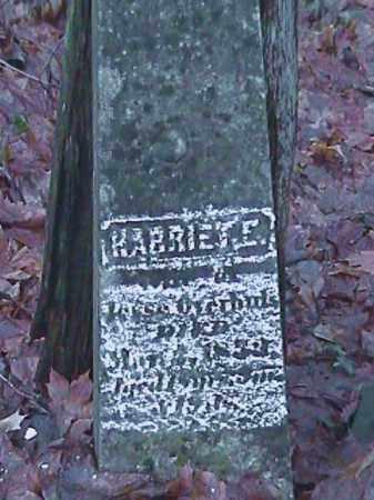 OVERHULS, HARRIETE - Champaign County, Ohio | HARRIETE OVERHULS - Ohio Gravestone Photos
