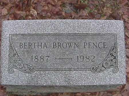 PENCE, BERTHA BROWN - Champaign County, Ohio | BERTHA BROWN PENCE - Ohio Gravestone Photos
