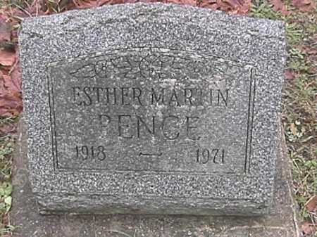 PENCE, ESTHER MARTIN - Champaign County, Ohio | ESTHER MARTIN PENCE - Ohio Gravestone Photos