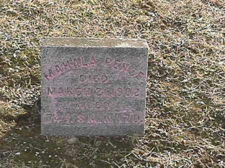 PENCE, MAHALA - Champaign County, Ohio   MAHALA PENCE - Ohio Gravestone Photos